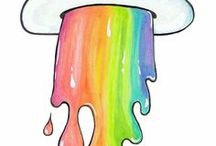 Rainbows and positivities and colors