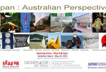 Japan : Australian Perspectives / An exhibition with a group of artists, designers and architects reflecting on their relationship with Japan.  Incinerator Art Space Willoughby Sydney Australia May 2015