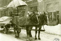Foto: Ghiaccio e neve / Ice & snow / Le immagini invernali sono spesso uno spettacolo e certo non mancano, nell'archivio fotografico della biblioteca Malatestiana, i ricordi delle nevicate, delle gelate e delle evoluzioni sul ghiaccio.