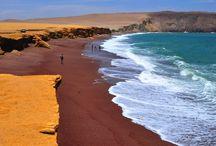Peru kırmızı sahil