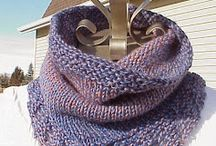 knitted neckerchief cowl