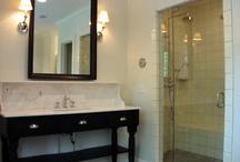 Bathroom sink beveled marble