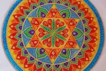 Mandala / Mandala paintings and jewelleries / Mandala képek és mandala ékszerek