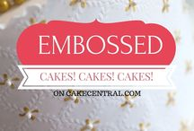 Embossed Wedding Cakes / Embossed wedding cakes, birthday cakes, and baby shower cakes inspiration, ideas and cake decorating tutorials. Embossing Cake, or Embossed cakes refers to the creation of an impression of some kind of design, decoration, lettering or pattern on the surfa