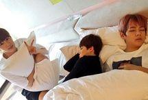 V, Jin, and JIMIN