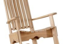 Scaun lemn balansoar