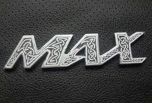 Yamaha V-Max 1200 Custom. Celtic. Viking. Hand engraving details on motorcycle.