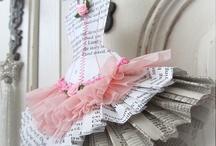 bailarinas de papel e arame