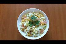 Smoked salmon salad. Salată cu somon afumat. Салат с копчёной сёмгой. / Ingredients: smoked salmon-300g, sweet corn-285g, 4 eggs, China cabbage-200g, olive oil with basilic, lemon juice, salt and peperocino. Ingrediente: somon afumat-300g, porumb-285g, 4 ouă fierte, varză chinezească-200g, ulei de măsline cu busuioc, suc de lămâie, sare și piper. Ингредиенты: сёмга копчёная-300г, кукуруза сладкая-285г, четыре яйца,  Китайская капуста-200г, масло оливковое с базиликом, лимонный сок, соль и пеперочино.
