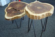 mesas centro troncos