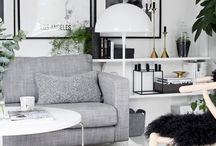 Gray & White Living Room / by Tamara Burke