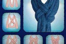 ways to tie scarfs