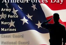 Armed Forces Day / In the United States, Armed Forces Day is celebrated on the third Saturday in May. It falls near the end of Armed Forces Week, which begins on the second Saturday of May and ends on the third Sunday of May.   The day was created in 1949 to honor Americans serving in the five U.S. military branches – the Army, Navy, Marines, Air Force and Coast Guard.