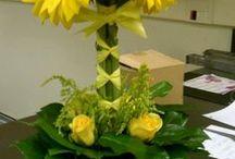 Tűzött virágkompozíciók