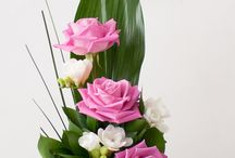 Csokrok, tűzött virágkompozíciók