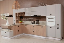 Kitchen Cabinet with Laminate and Melamine (Model:OP13-228)