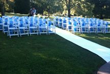 Americana Ceremony Chairs with Sashes / Fitzroy Gardens Temple of the Winds