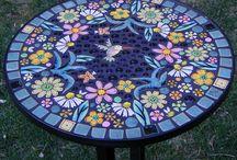 мозаика, столы