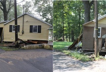 Tropical Storm Lee: Before and After / This board shows the homes during the flooding and one year later.  / by Lebanon Daily News = newspaper photography