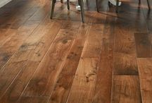Walnut Hardwood Flooring / Best known for its stunning dark colors, which goes really nice with a light- colored  décor