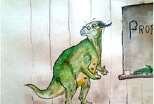 Illustration: Profapod and the Dinosaur School / Profapod was an Iguanodon (a dinosaur) with a desire to teach young children...  Adam Greaves