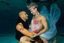 Bruids Bodypaint en onderwater shoot