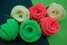 D.I.Y. Satin, Chiffon, Fabric Roses