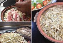 陶板土鍋 Casserole Donabe   JapanesesTableware / 蒸し物が簡単にできる土鍋です♪ 刷毛目が素敵な味わいがあり パーティー料理でも存在感ありです