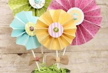 Paper crafts / Paper flower design, cupcake paper flowers