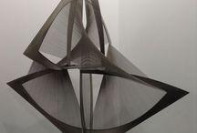 Tension, Structure, Rythmes, mouvement, lumière... / Productions plastiques abstraites traitant des thématiques évoquées dans le titre du tableau