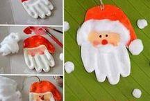 main p . Noël pâte à sel