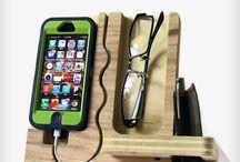 kännykkä,silmälasi, lompakko teline