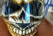 Helmet Skull Airbrushing