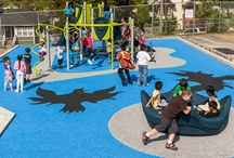 Safety Surfacing / We offer playground and water play safety surfacing to help keep kids safe and complete your play space design!