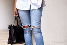 Blue jeans white shirt
