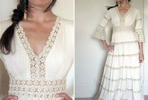 Vintage 70's Bridal  / Photos of vintage wedding dresses, as inspiration- but also many very similar to what we carry in our shop!