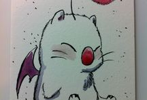 INKtober 2014 / Sketch cards in ink and minimal watercolor by me!