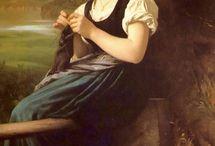 Knitting in paintings