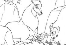 Bambi coloring book / Bambi coloring Pages