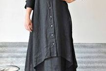 linen unique dress