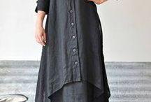 linen unique dress