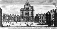 Les Halles, XVIIe siècle / Iconographie du centre de Paris et plus particulièrement des Halles, du quartier Montorgueil, du Châtelet.