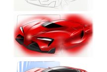 Cars Project / Skecthing and rendering car