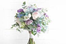 ramos de novia tonos azules
