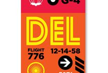 Begsonland Retro Vintage Style / Vintage Luggage and Airport Tags