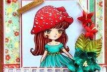 LEMON SHORTBREAD IMAGES - Handmade cute girly greeting cards