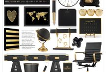 INTERIORS: black and gold