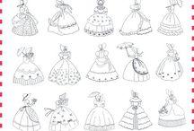Crinoline ladies
