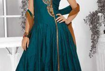 Designer Readymade Suits / Chanderi Cotton Silk Designer readymade Suits with thread embroidery and patchwork