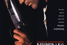 "Desperado  / With this sequel to his prize-winning independent previous film, ""El Mariachi,"" director Robert Rodriquez joins the ranks of Sam Peckinpah and John Woo as a master of slick, glamorized ultra-violence. We pick up the story as a continuation of ""El Mariachi,"" where an itinerant musician, looking for work, gets mistaken for a hitman and thereby entangled in a web of love, corruption, and death. / by GREAT MUSICAL'S"